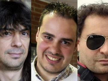 José Manuel López, Antonio Pampliega y Ángel Sastre