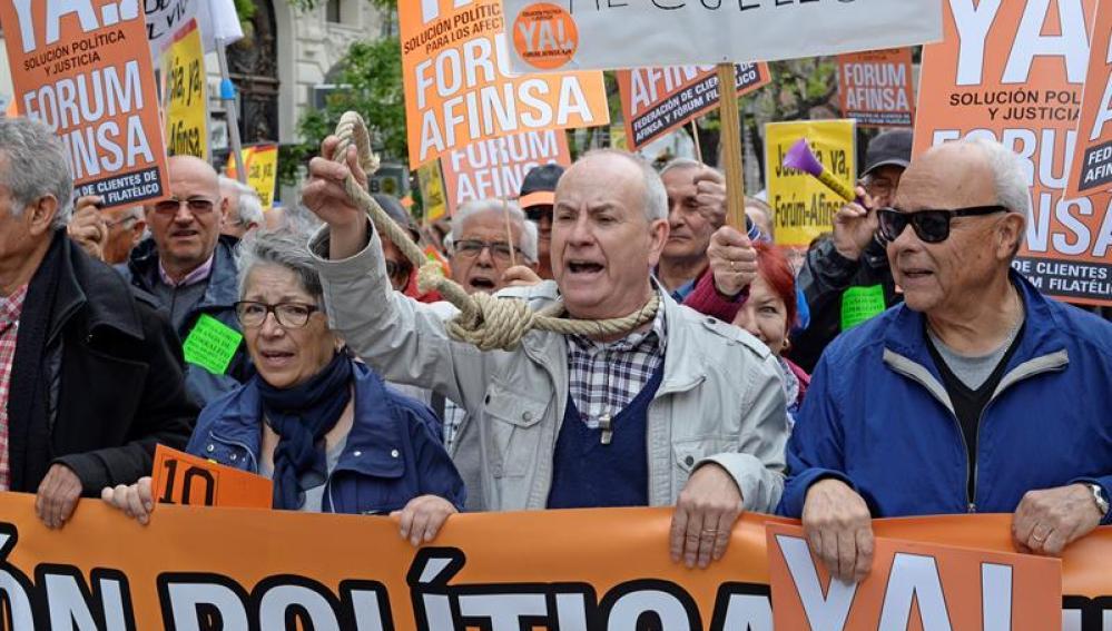 Manifestación Afinsa