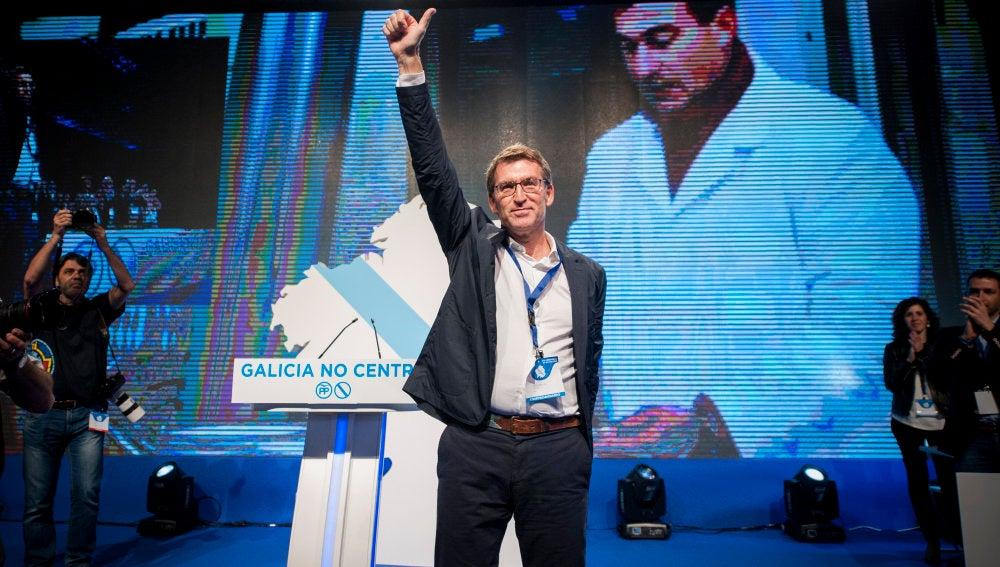 El presidente de la Xunta, Alberto Núñez Feijóo, durante la celebración del XVI Congreso Autonómico.