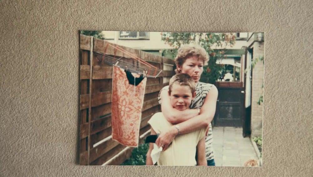 Romano Van Der Dussen y su madre