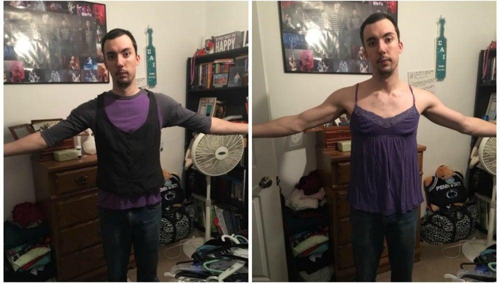 Ridiculiza las tallas de las mujeres tras probarse la ropa de su novia