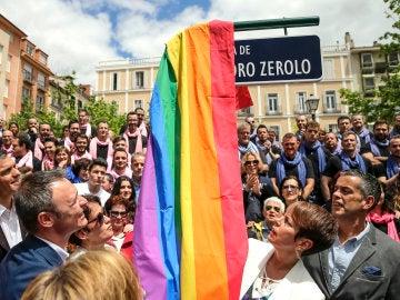 Inauguración de la plaza de Pedro Zerolo