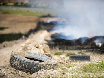 """El incendio de Seseña es """"estable"""" aunque los índices de calidad del aire """"siguen siendo negativos"""""""