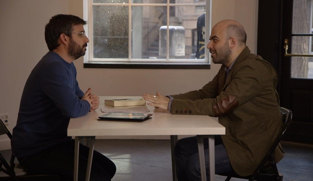 Jordi Évole charla con Roberto Saviano en Salvados