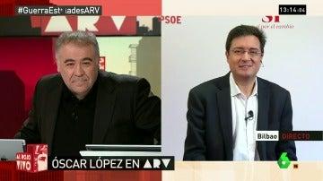 Ferreras entrevista a Óscar López