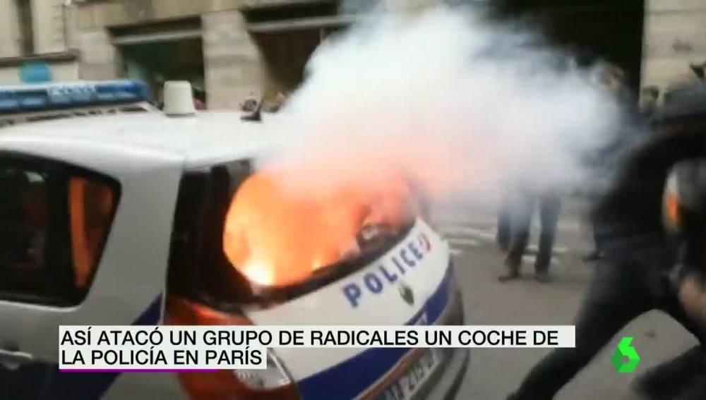 Ataque a un coche de Policía francesa
