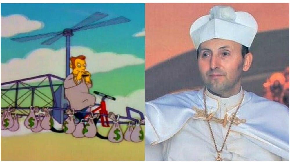 El 'líder' de los Simpsons y el papa de El Palmar