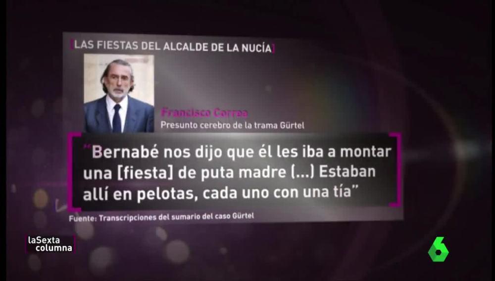 Francisco Correa, sobre Bernabé Cano