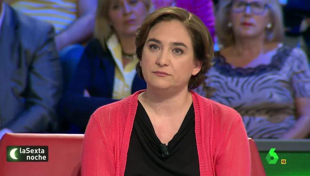 Ada Colau, alcaldesa de Barcelona, en laSexta Noche