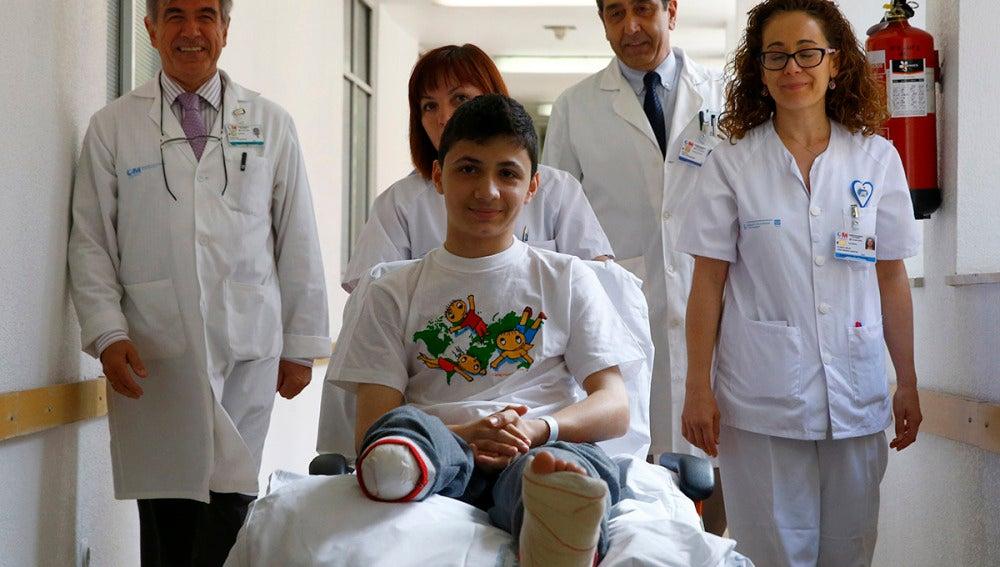 Wissam, el niño sirio operado en España