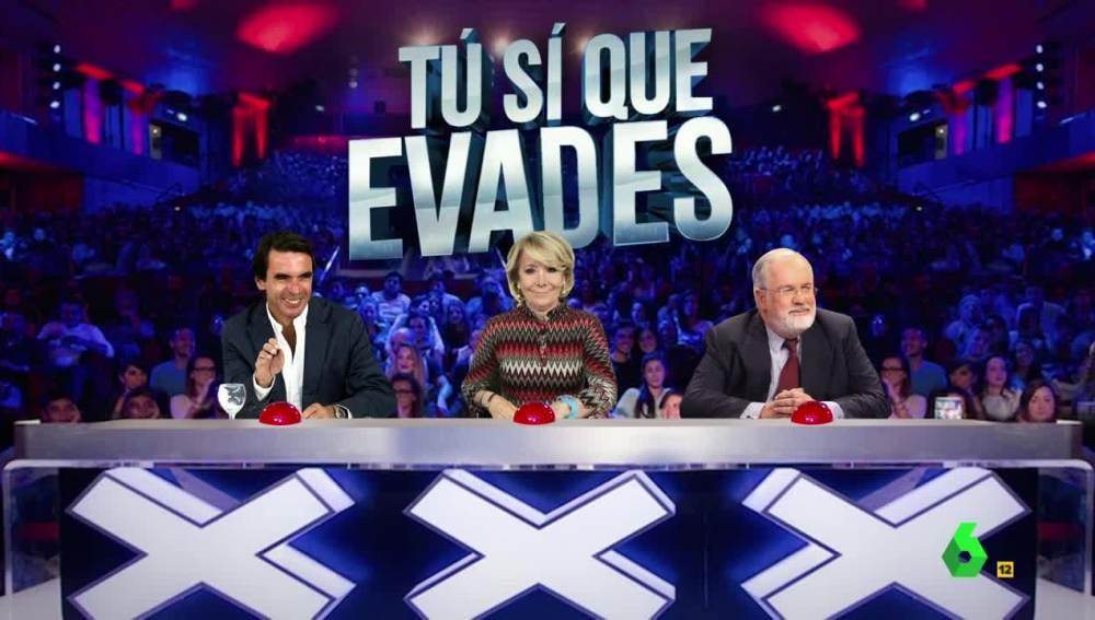 Cañete, Aznar y Aguirre, jurado de 'Tú sí que evades'