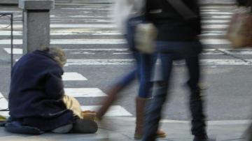 Una persona sin hogar