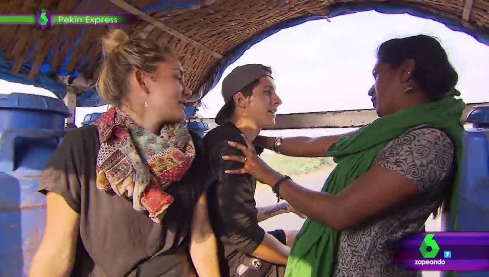 Brianca, con Jonan y Priscila