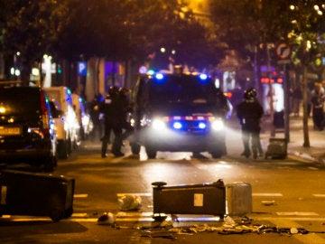 Destrozos por las protestas en Barcelona