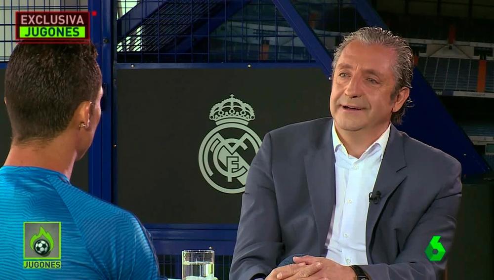 Josep Pedrerol entrevista a Cristiano Ronaldo