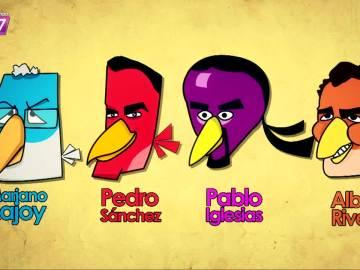 Los políticos a los Angry Birds