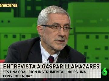 """Frame 16.328003 de: Gaspar Llamazares: """"No me gusta mucho el nombre Unidos Podemos"""""""