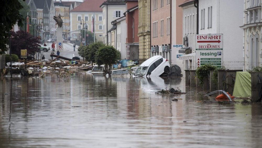 Inundaciones al sur de Alemania