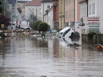 Imagen de archivo de inundaciones al sur de Alemania en 2016