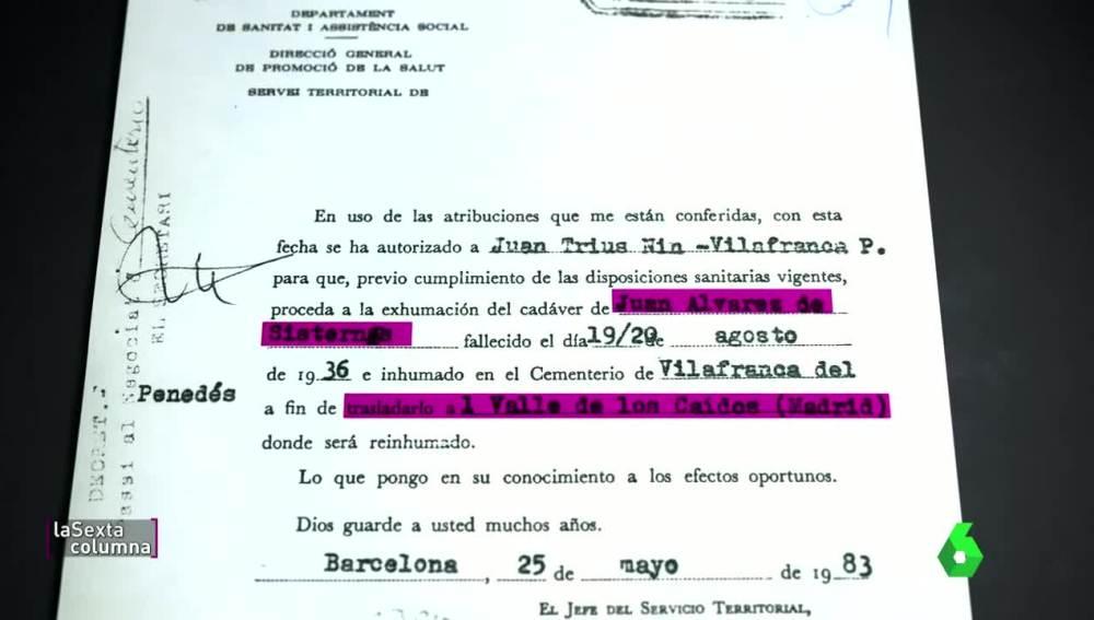Juan Álvarez, último cuerpo en llegar al Valle de los Caídos