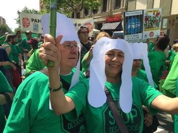 Movilizaciones de la PAH frente a las sedes del PP de todas las capitales de Provincia