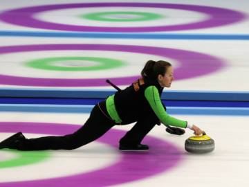 Jugadora de curling