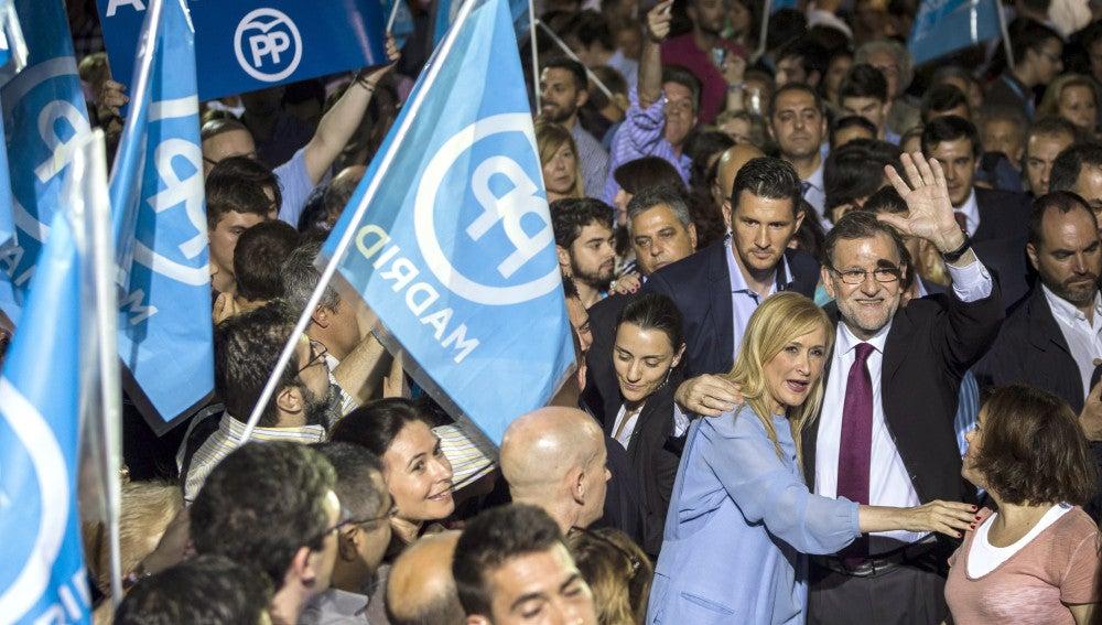 Mariano Rajoy, en el inicio de campaña del PP