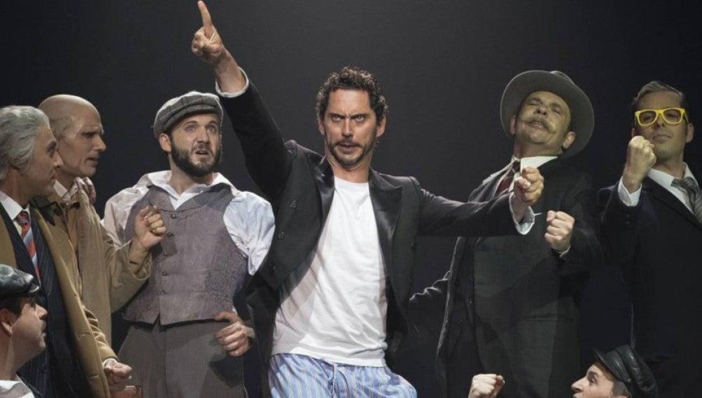 Paco León durante la representación de su obra '¡Cómo está Madriz!'
