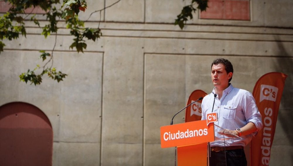 Albert Rivera durante el acto en Barcelona