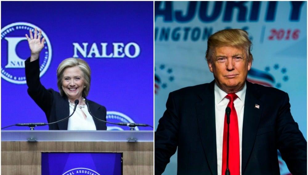Los candidatos Hillary Clinton y Donald Trump