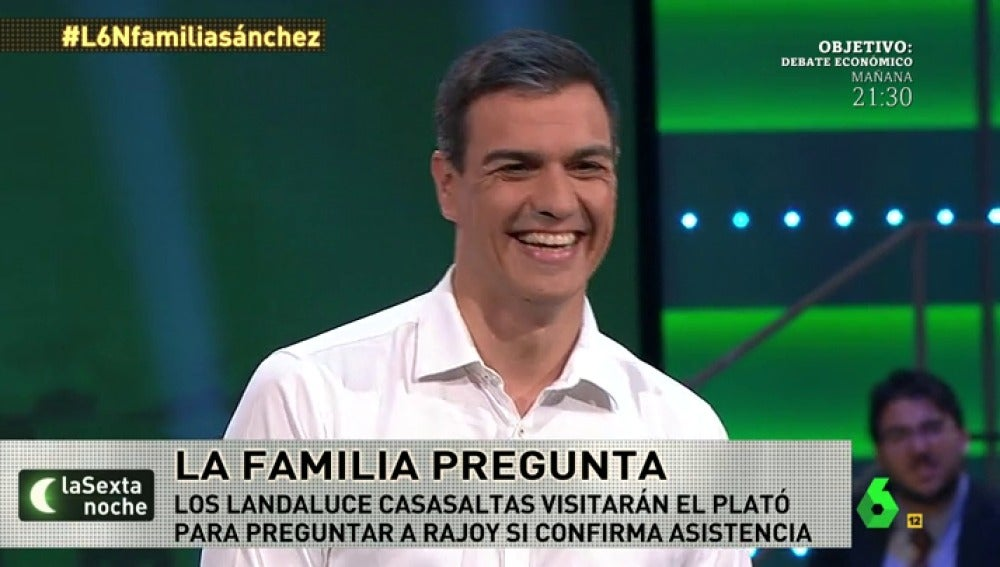 Pedro Sánchez en 'la familia pregunta'