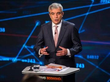 Luis Garicano en el plató de 'El Objetivo Economía'