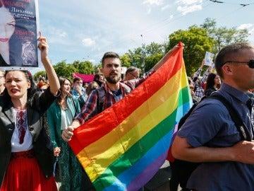 La extrema derecha trata de boicotear el desfile del Orgullo Gay en Ucrania