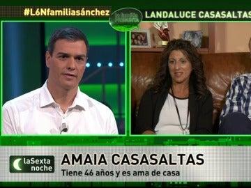 Amaia pregunta a Sánchez