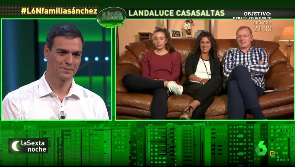 Oihane pregunta a Pedro Sánchez