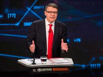 Jordi Sevilla en el plató de 'El Objetivo Economía'