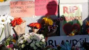 Flores en recuerdo de las víctimas de la masacre de Orlando