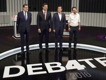 Los candidatos del Debate a 4