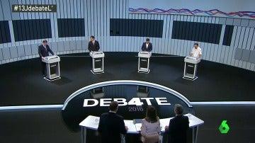 Los participantes del debate 13J