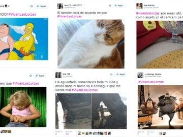 Tuits de apoyo a #VivanLasLorzas