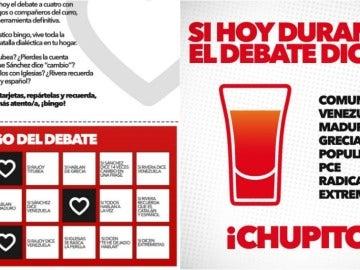El bingo de IU para el debate 13J