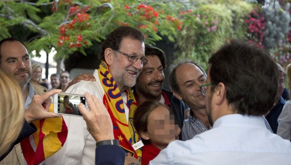 Rajoy, tras el partido de España