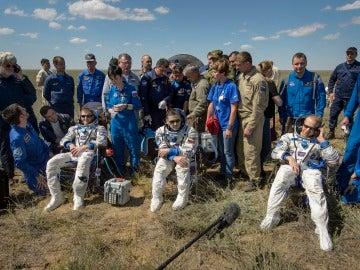 Aterriza con éxito la nave Soyuz TMA-19M, con tres tripulantes a bordo
