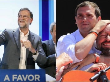 Rajoy, Rivera y Girauta