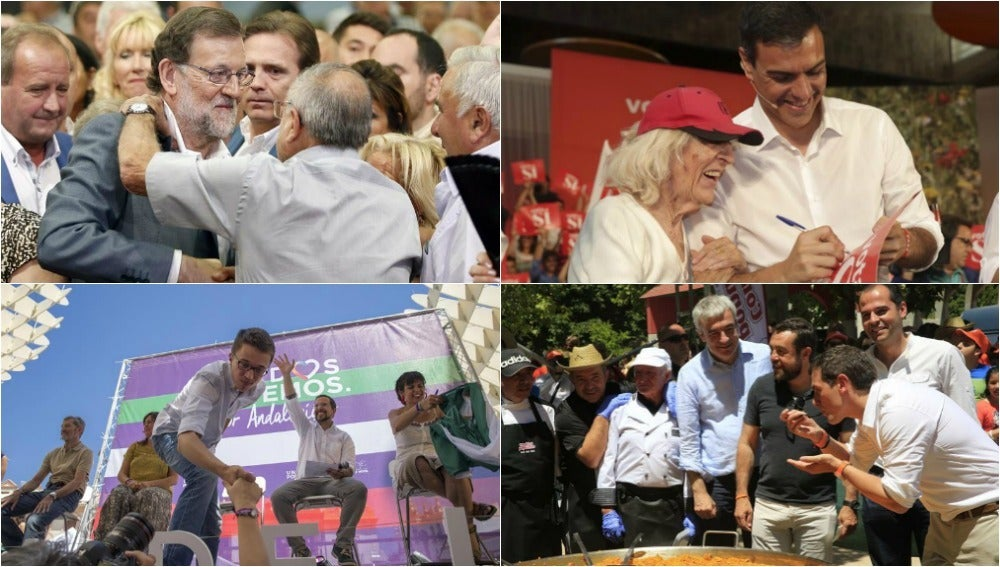 Rajoy, Sánchez, Errejón y Rivera