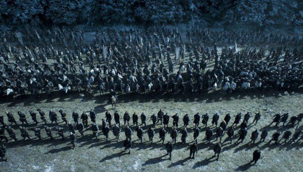 Momento de la batalla en el noveno capítulo de Juego de Tronos