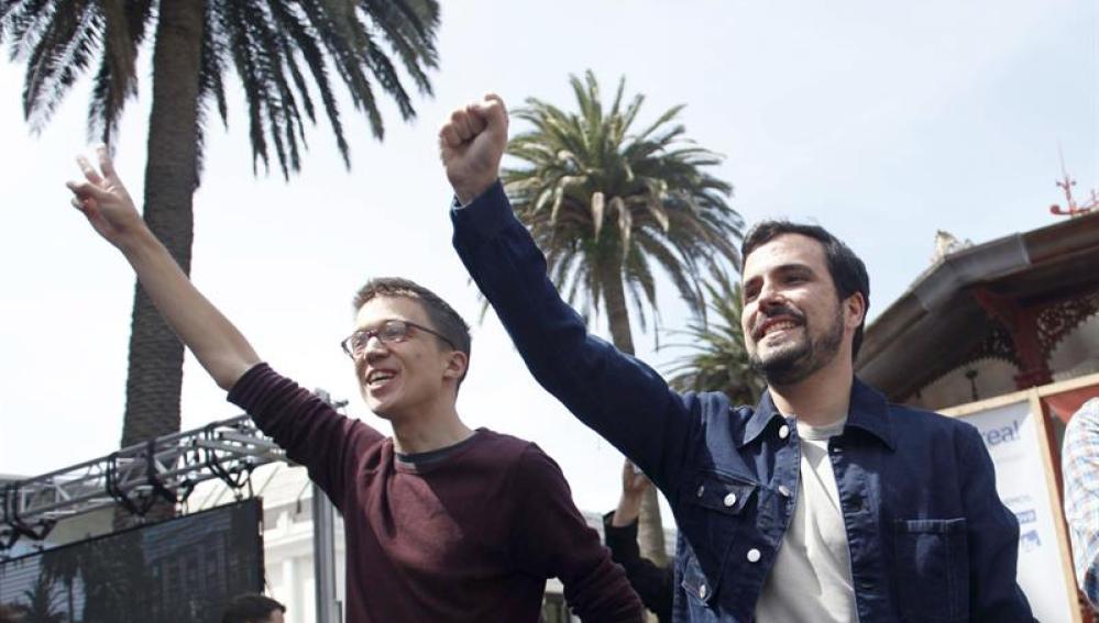 Los candidatos de Unidos Podemos por Madrid al Congreso Alberto Garzón e Íñigo Errejón