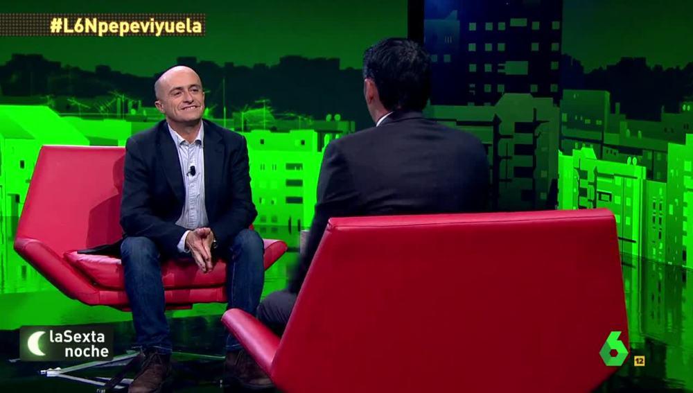 El actor Pepe Viyuela, en laSexta Noche