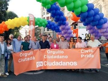Ciudadanos en el Día del Orgullo de Valencia