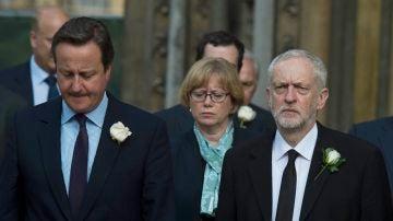 David Cameron en el homenaje a Jo Cox